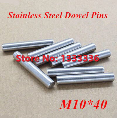 20pcs/lot M10*40 GB119 Stainless Steel Dowel Pins / Round Cylinder  Parallel Pin Dia 8mm