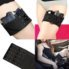 New Black Holster Vaporizer Case Thigh Sexy Woman Tactical Holster Garter Gun For Taurus Leg Sling Elastic Holster For ladies