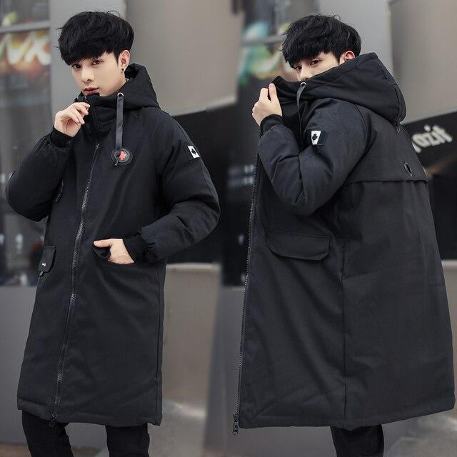 long parkas winter jacket men 2020 New warm Windproof Casual Outerwear Padded Cotton Coat Big Pockets High Quality Parkas Men 3
