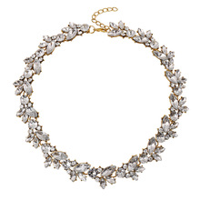 Choker Necklace 2016 Bohemia Luxury Crystal Flower Maxi Necklace Women Retro Bib Statement Necklace Banquet Choker Necklace