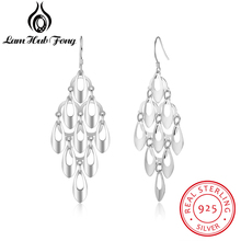 Diamondido New Real 925 Sterling Silver Tassel Dangle Earrings For Women Girls Multilayer Drop Earring Hollow Out Fine Jewelry lotus fun moment real 925 sterling silver natural blue stone fashion jewelry cute hollow out honeybee dangle earrings for women