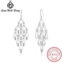 Diamondido New Real 925 Sterling Silver Tassel Dangle Earrings For Women Girls Multilayer Drop Earring Hollow Out Fine Jewelry стоимость