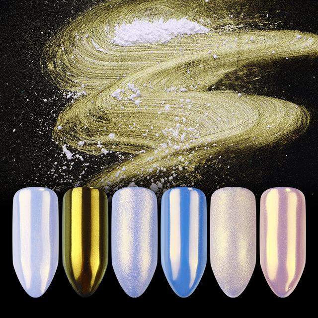 Nail Glitter Powder Colorful Mirror Matte Shimmer Nail Art Powder Pigment Dust Manicure Nails Tips Decoration Design