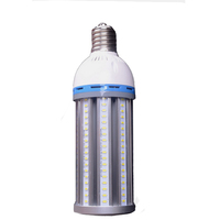 High brightness LED bulb light ideal for using on top of a parking lot light pole with a lantern top