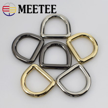 5pcs Meetee O D Dee Ring Buckle Webbing 20/25/30mm Metal Pet Collar Clasp for  Bags Shoes Part Accessories Leather Craft G7-3