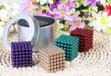 5mm 125pcs/set cube Magnetic Balls toys Puzzle Magnet Block Cubo Magico Toys with Tin metal Box