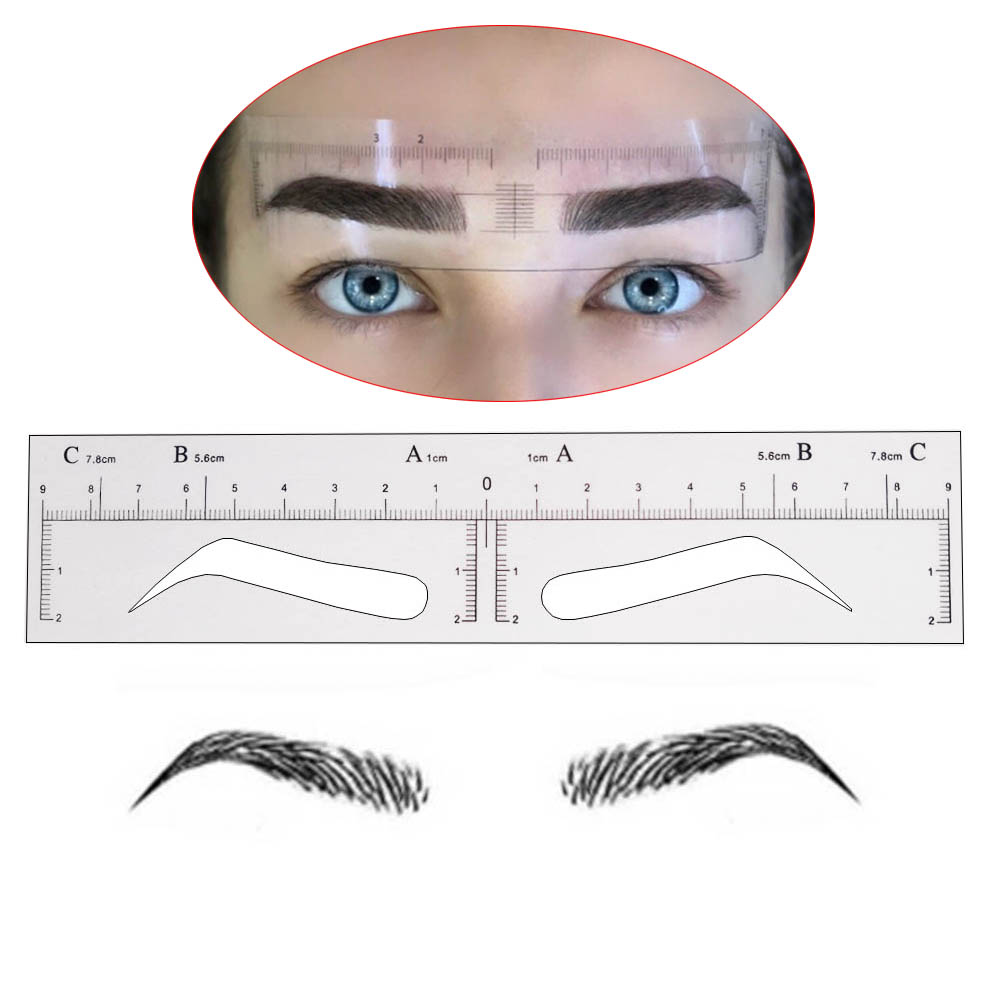 10 pieces Microblading Eyebrow Stencils Stickers Permanent Makeup Supplies Disposable Eyebrow Mold Template Drawing Guide доска для ограждения garden dreams 1 1 м