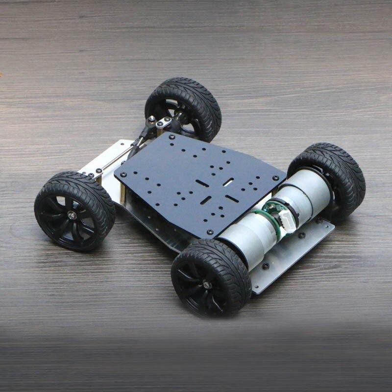 2018 châssis de voiture Robot intelligent 1500 tr/min roue avant Servo entraînement roue arrière double moteur d'entraînement pour Arduino