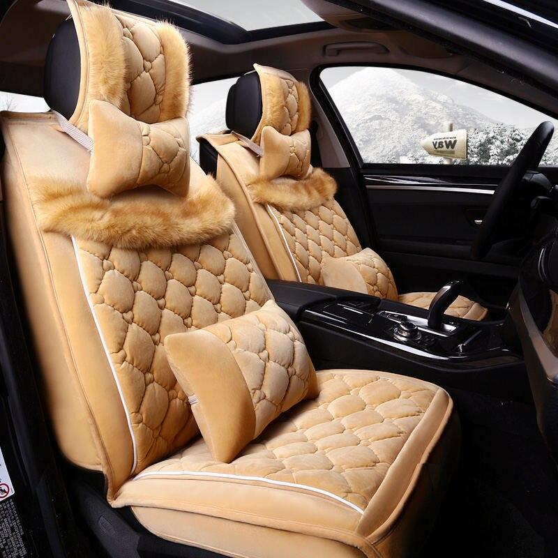 CHE AI REN nouvelle housse de siège de voiture en laine coussin en peluche tapis de voiture fournitures automobiles ensembles de siège automobile, siège d'hiver, style de voiture pour