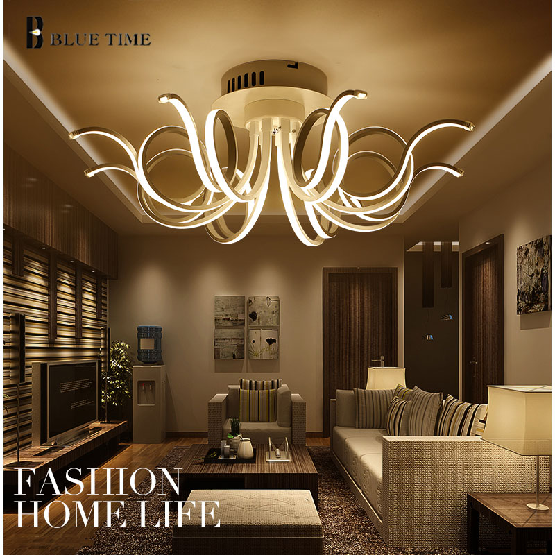 2017 New Modern Chandeliers For Living Room Dining Chandelier Light Acrylic Aluminum Body Led Lighting Fixture D80xh30cm In From Lights