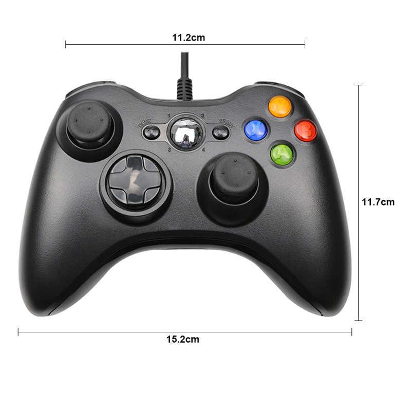 USB проводной Вибрационный геймпад джойстик для ПК игровой контроллер для Windows 7/8/10 не для Xbox 360 джойстика с высоким качеством