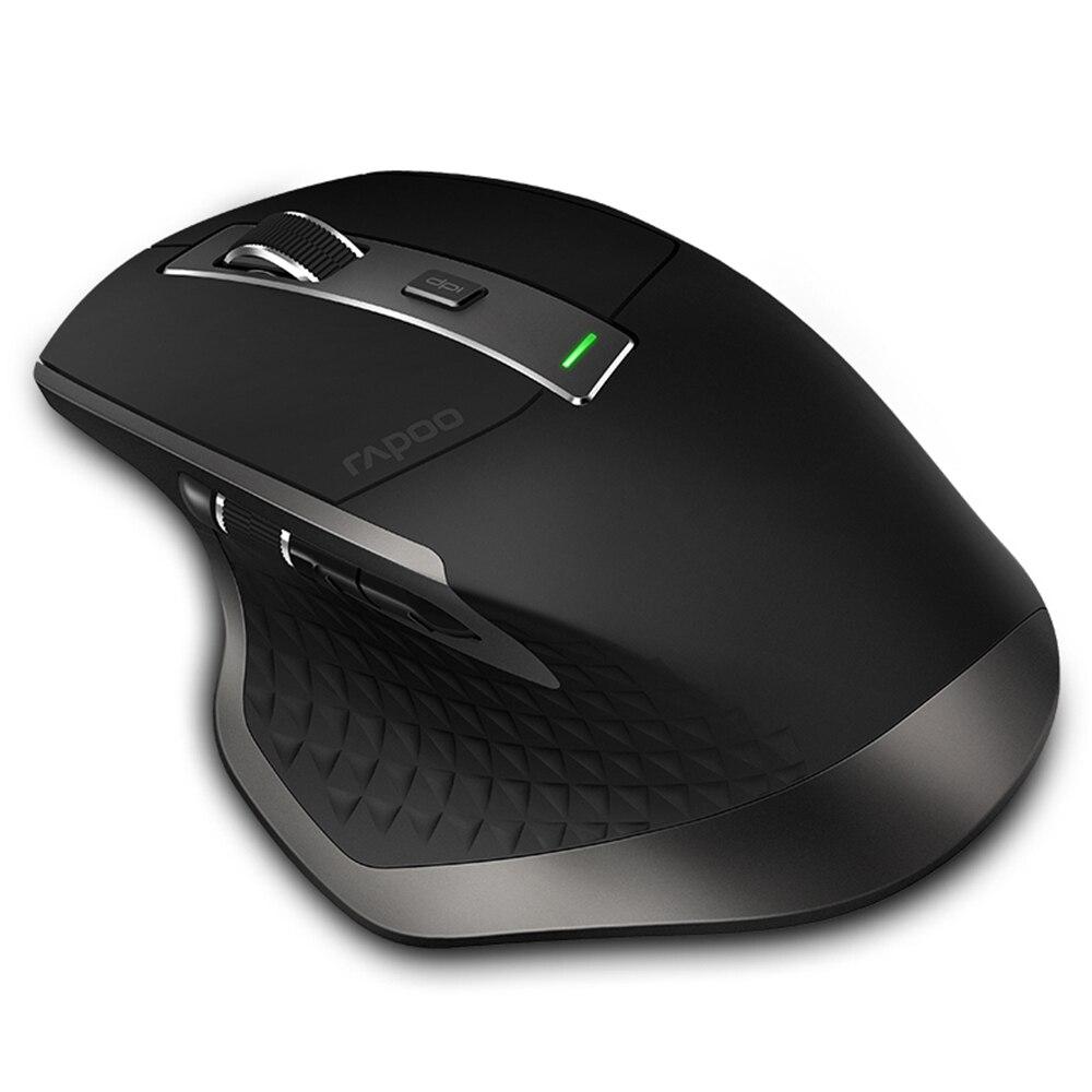 Подлинная Rapoo MT750 перезаряжаемый многомодовый беспроводной переключатель мыши между Bluetooth 4,0/2,4 и 3,0G для четырех устройств подключения