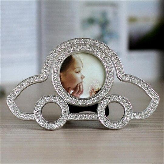 Mignon Voiture Cristal Bébé Garçon Cadre Photo 2 Pouces En Métal Décor À La Maison De Mariage Faveur Nuptiale Baby Shower Cadeaux
