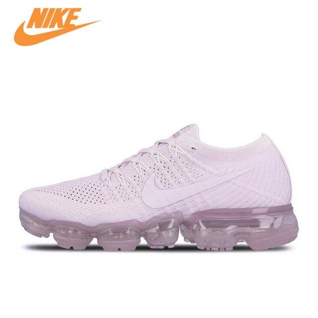best website 84631 619d4 Original Nouvelle Arrivée Officiel Nike Air VaporMax Flyknit de Femmes  Respirant Chaussures de Course de Sport