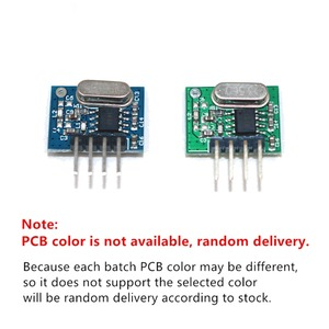 Image 5 - QIACHIP 433 Mhz Supereterodina ASK Trasmettitore RF Modulo DC 1CH Kit FAI DA TE 433.92 Mhz A Distanza Senza Fili di Controllo Per MCU Arduino uno