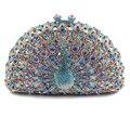 Female Crystal Clutch Bags Fashion Design Women Beaded Handbags Shine Rhinestone Diamond Wedding Day Clutches(8105A-LP)