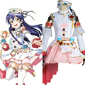 LoveLive! Conjunto Birthstone Sonoda Umi Sonoda Umi Anime Girl Trajes de Cosplay Uniforme Del Traje de Halloween Outfit
