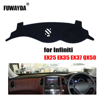 FUWAYDA Car dashboard covers mat for Infiniti EX25 EX35 EX37 QX50 Right hand drive dashmat pad dash cover auto accessories