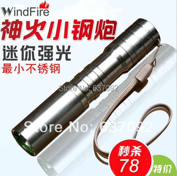 Shenhuo stainless steel led glare q5 charge flashlight waterproof mini flashlight glare 30