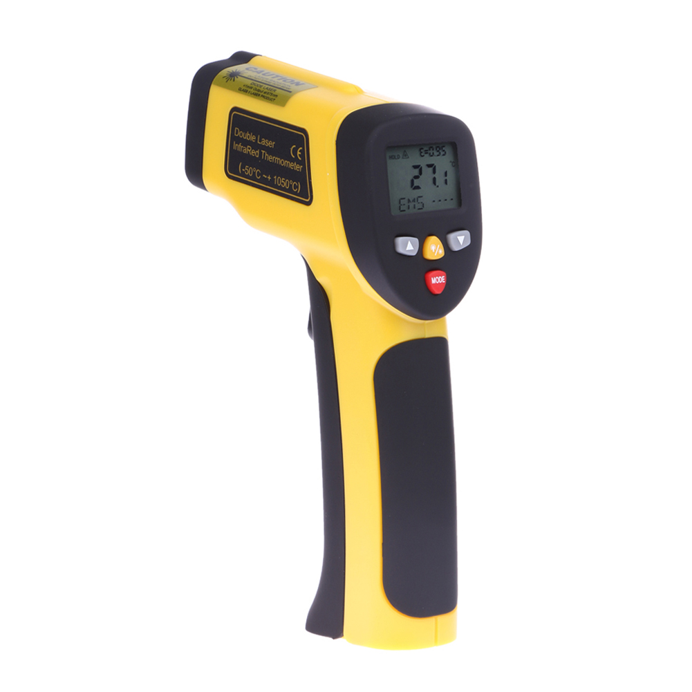 LCD Display Non-contact Dual Laser IR Gun Infrared Thermometer Pyrometer Temperature Meter Tester 0.1-1EM -50 To 1050 Celsius цена 2016