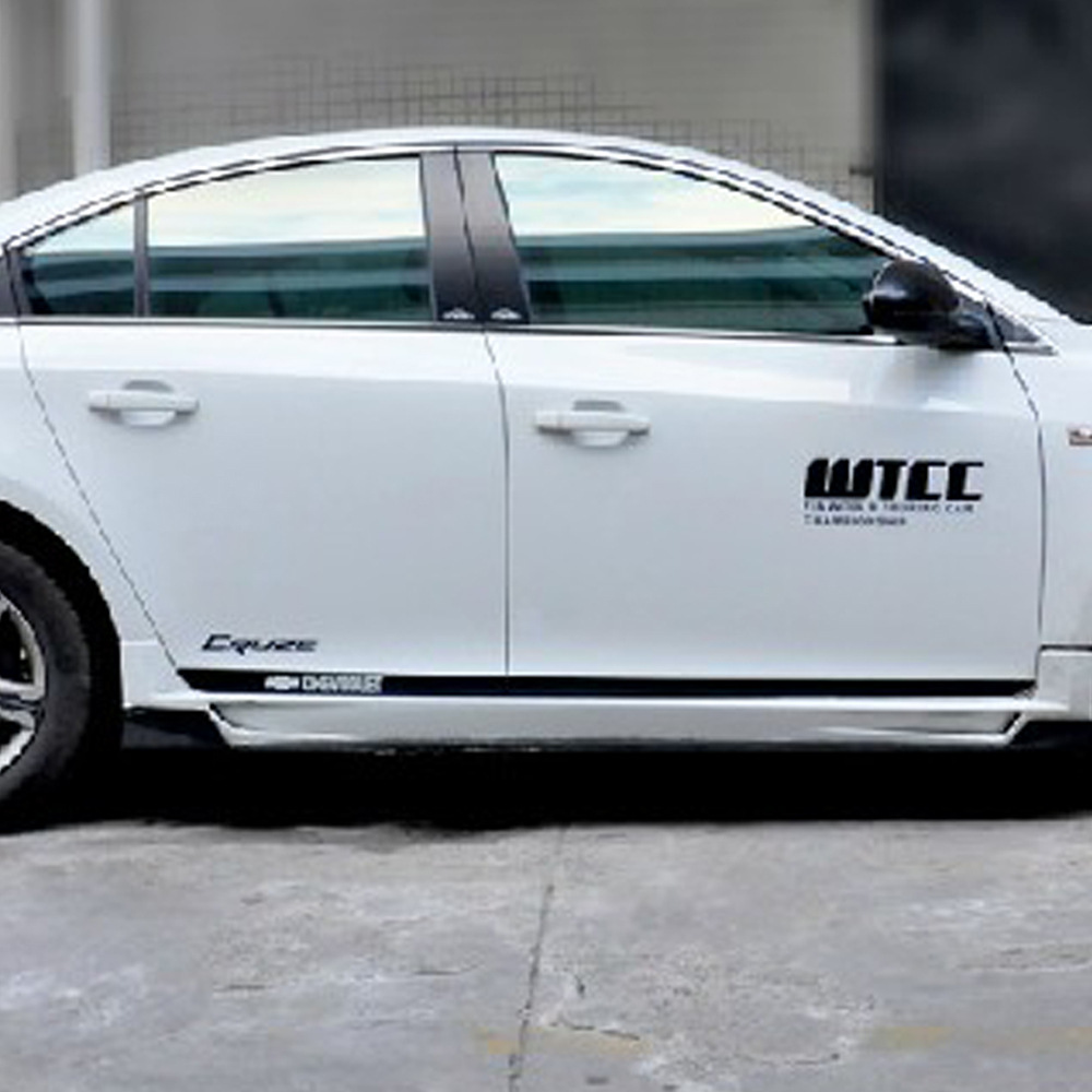 Viva car sticker design - 1 Set Return Of The King Wtcc Car Stickers Full Body Decal Door Line Garland Sticker