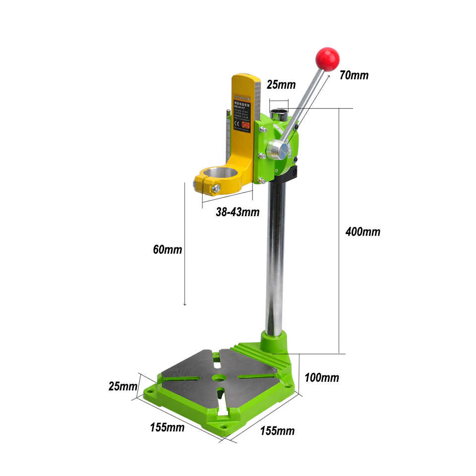 medium resolution of  free shipment drill stand 0 90 degrees drill chuck 38 43mm drill holder press