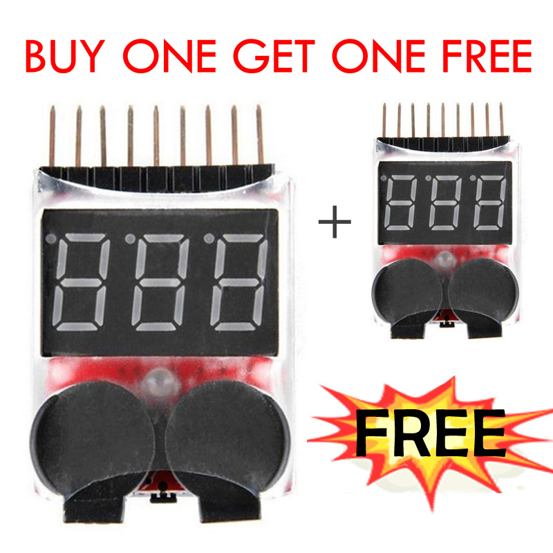 Gratis forsendelse 1-8S Lavspændingsbatteri tester Buzzer Alarm 1-8S LED Low Voltage Buzzer Alarm Lipo Voltage Indicator Checker