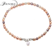 Real Freshwater  pearl necklace for women,multi white color bridal natural necklaces wife anniversary