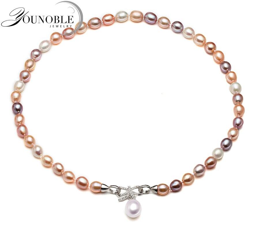 Reale D'acqua Dolce collana di perle per le donne, multi colore bianco da sposa bianco perla naturale collane moglie anniversario