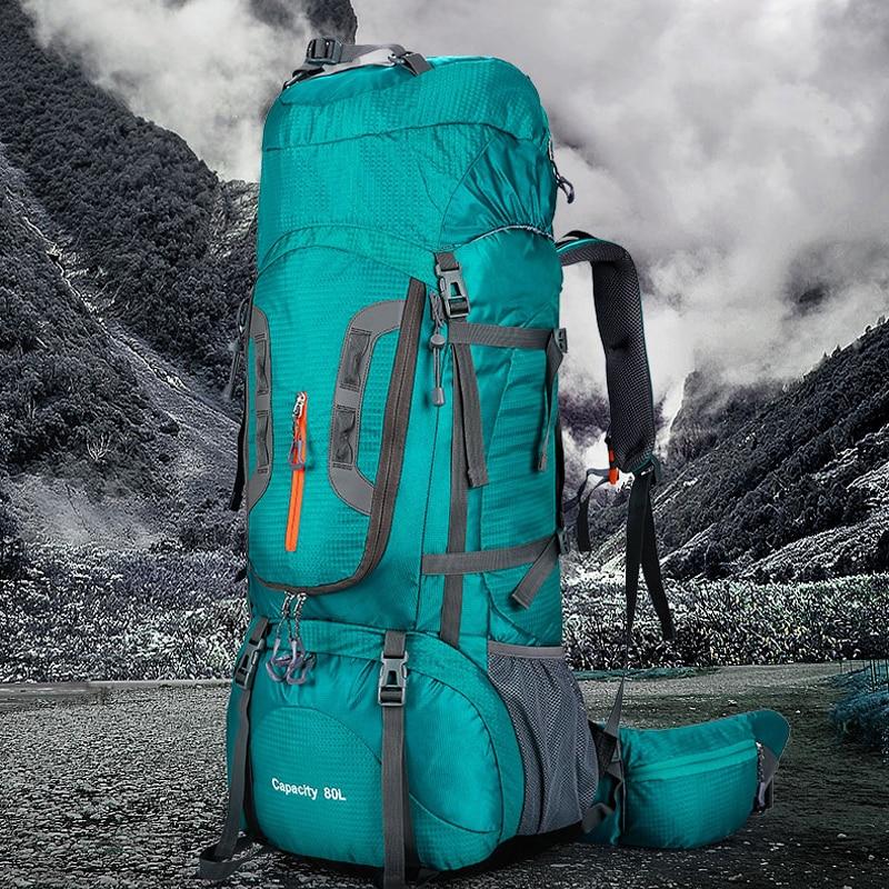 80L grande capacité hiver extérieur Trekking Camping randonnée sacs à dos randonnée sac femmes Sport voyage escalade sac extérieur sac à dos