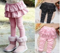 Winter Kids Baby Girl Skirt With Legging Pants Trousers Spring Autumn Thick Little Girls Cake Skirts