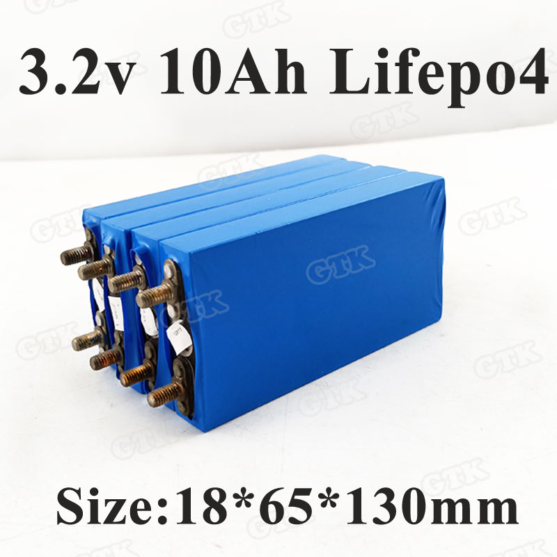 GTK 3.2v 10ah lifepo4 battery 30A discharge 10000mah cell aluminium case for 12v 10ah battery DIY pack power tools E-bike