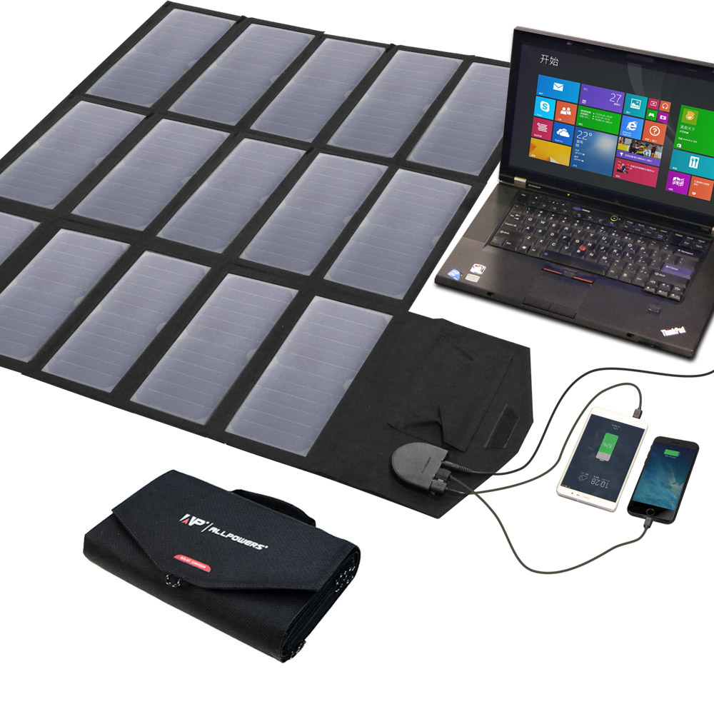 ALLPOWERS Carregador Carregadores de Celular Smartphone 5 V 12 V 18 V 100 W DC USB Painel Solar Bateria para Laptop Tablet Celulares