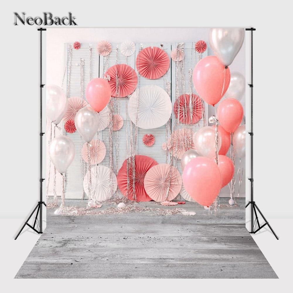 NeoBack Vinyl Cloth New Born Baby Photography Backdrop P Balloon Wedding Children Birhtday Studio Photo backgrounds P2440