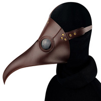 Brown Leather Gothic Plague Bird Doctor Mask Steampunk Masquerade Party Masks Anime Cosplay Props Halloween Costume Accessories