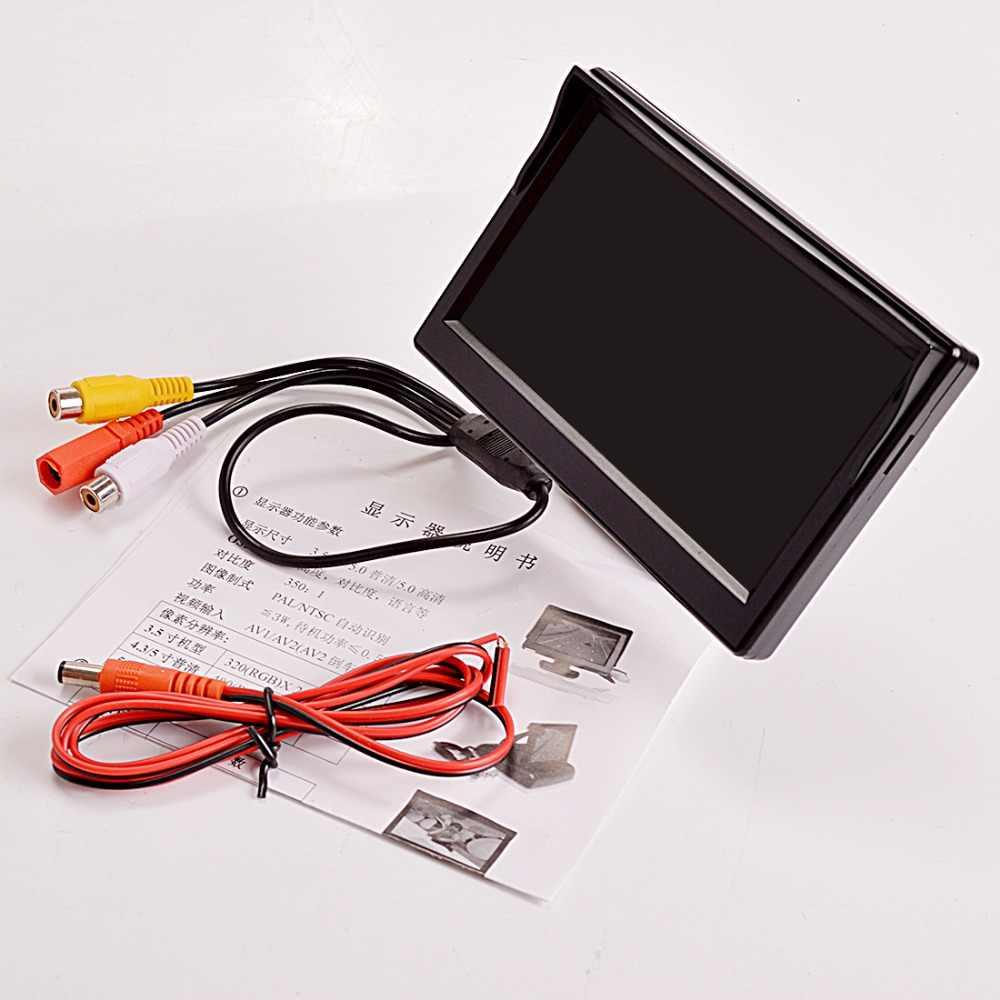 """SINOVCLE 5 """"Monitor parkowania samochodu kamera cofania TFT LCD 5.0 Cal 800*480 16:9 ekran HD cyfrowy kolorowy dla tylnej kamery VCD DVD"""