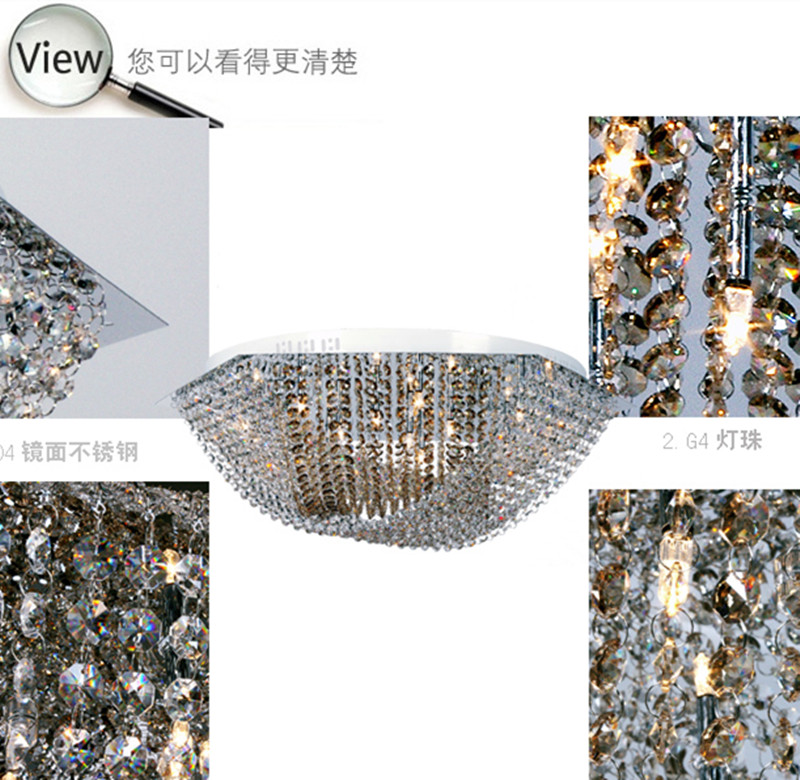 surface Hexagon Full crystal Led ceiling lights with G4 Led bulbs Bar - Indoor Lighting - Photo 5