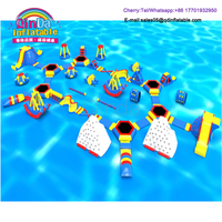 High Quality Inflatable Jumping Trampoline Floating Water Park Games For Kids And Adults