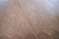 French alencon lace fabric, cord lace fabric for bridal lace fabric 5yards