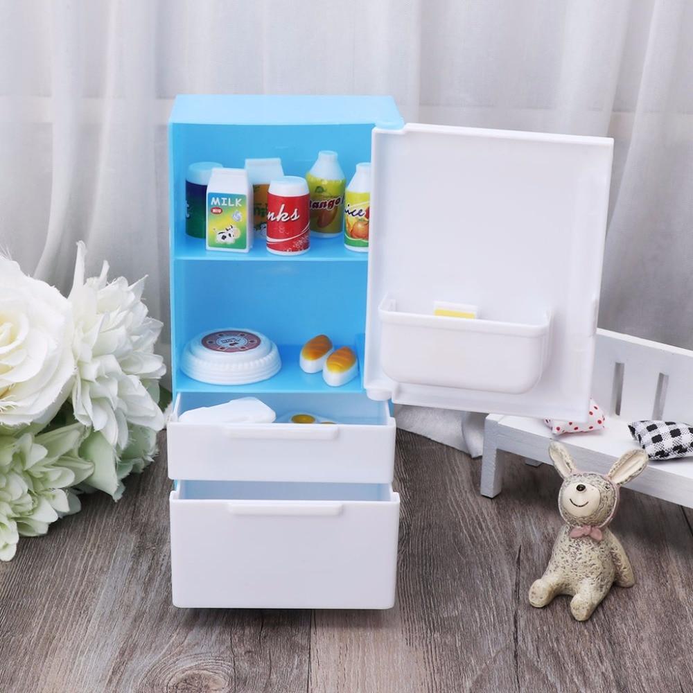 HBB Refrigerator Play Set Doll House Doll Fridge Freezer With Food ...
