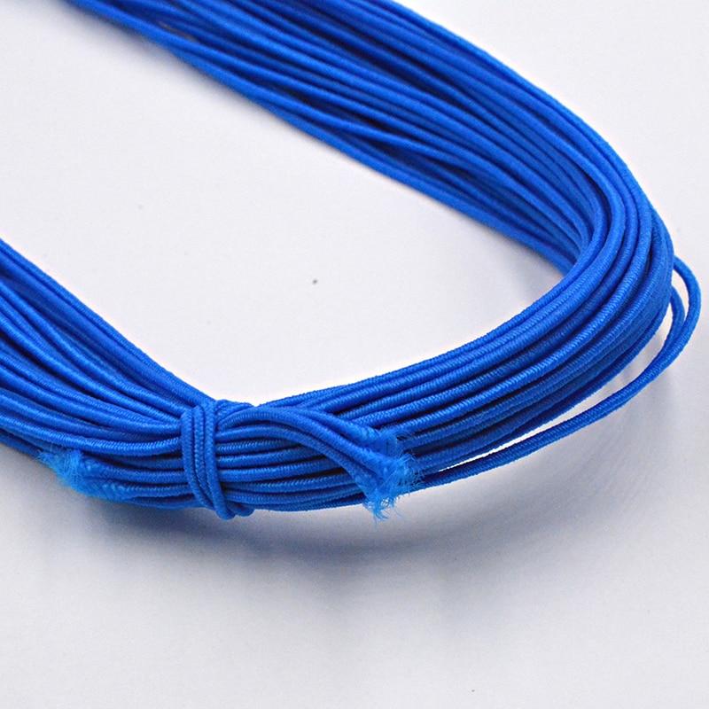 Новинка 0,8 мм на выбор, 12 цветов, эластичная веревка, шнур, бисер, сделай сам, для изготовления ювелирных изделий, браслет и ожерелье - Цвет: Синий