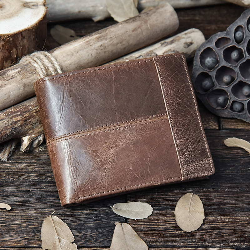Genuine Leather Men Wallets Clutch Male Vintage Hasp Slim RFID Wallet Short Coin Purse Men Card Holder Clamp for Money men wallet cowhide genuine leather purse money clutch card holder coin short on cover black dollar price 2017 male cash wallets