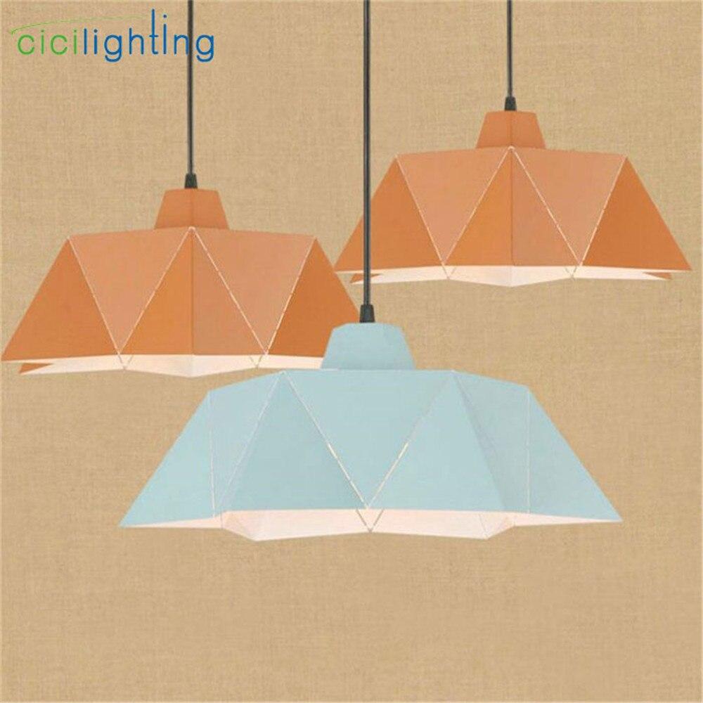 アートデザイナー幾何学 LED lutres シャンデリア D40cm ライトブルーアンバー鉄 E27 調節可能な lamparas デ手帖コルガンテ moderna