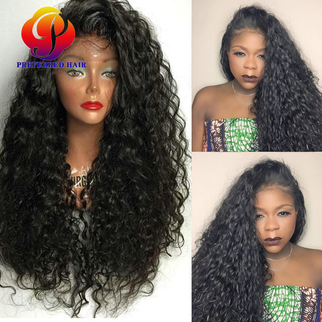 Long Curly Synthetic Lace Front Wigs for Black Women Afro Kinky Curly Lace  Front Synthetic Wig Lace Frontal Cheap Synthetic Wig fb5e010009cc