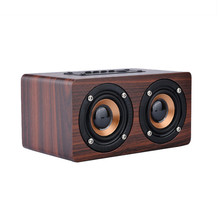 Mini Portable Bluetooth Wooden Wireless Speaker HiFi Bass Loudspeaker with TF Card AUX Audio Soundbar for Mobile PC caixa de som цена и фото