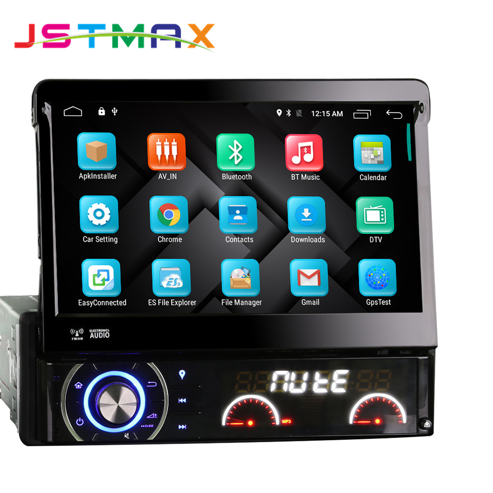 JSTMAX 1 Din 7 Car DVD Player Android 6.0 Video Hd Multi-touch Screen Automotivo Stereo Radio With 4g Mondom GPS Navigation