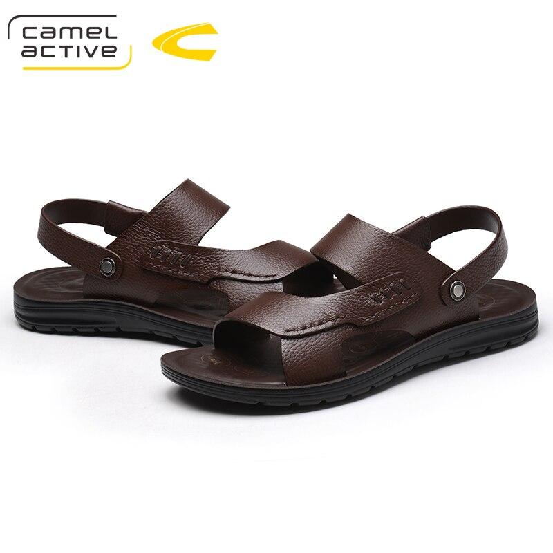 Camel Active New Top quality sandals 2018 men sandals summer genuine leather sandals men outdoor shoes men leather sandals