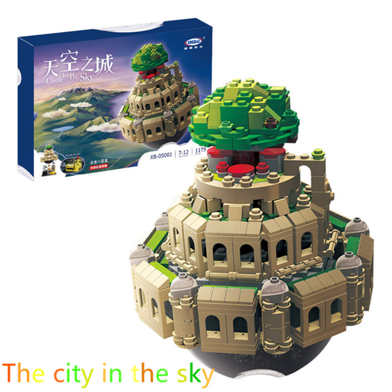 1179PCS XINBAO XB05001 The city in the sky assembled Building Blocks Bricks Compatible LEGO toys boy gift