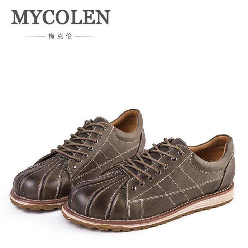 MYCOLEN New 2017 Brand Mens Shoes Leather Mens Flats Handmade Mens Loafers Fashion Designer Lace Up Comfortable ShoesMYCOLEN New 2017 Brand Mens Shoes Leather Mens Flats Handmade Mens Loafers Fashion Designer Lace Up Comfortable Shoes