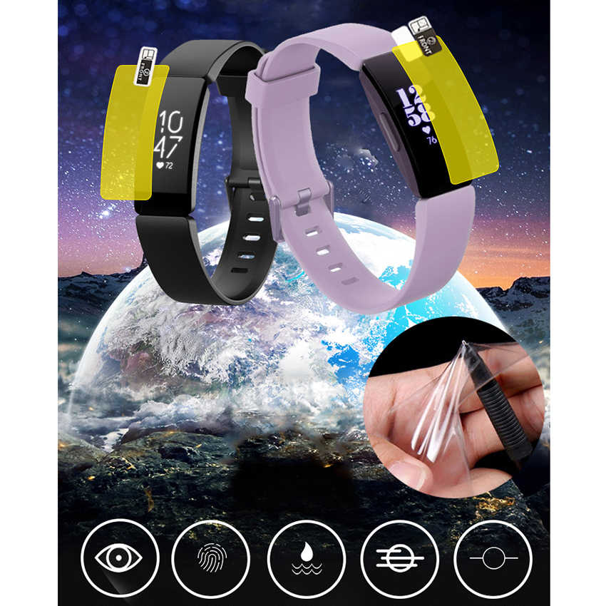 2 PCS Volledige Cover Clear Screen Protector Voor Fitbit Inspire/HR Ultra Dunne HD Soft TPU Beschermende Film voor fitbit Inspire Accessoire